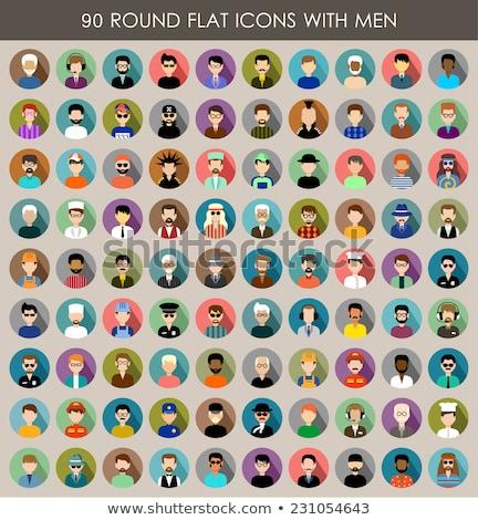 Stockfoto: Mannen · cirkel · ingesteld · iconen