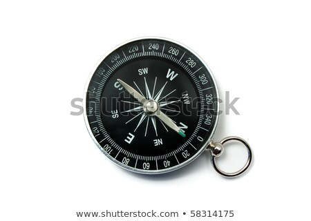 kompas · zwarte · groene · symbolen · bellen · geïsoleerd - stockfoto © rekemp