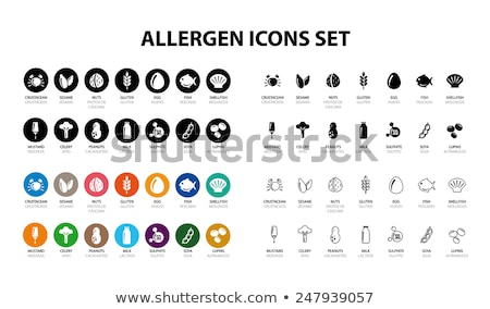Stock photo: Vector icons set for allergens
