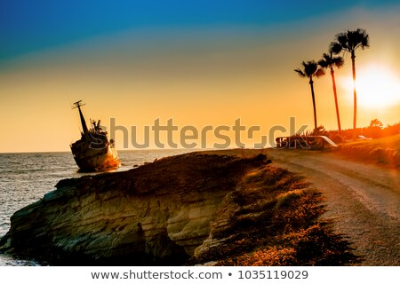 A shipwreck on the Paphos Coast, Cyprus Stock photo © Kirill_M