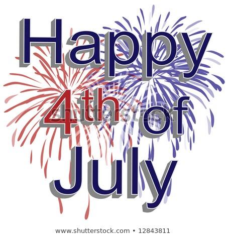 texto · cuarto · celebrar · América · bandera · de · Estados · Unidos · pieza - foto stock © irisangel