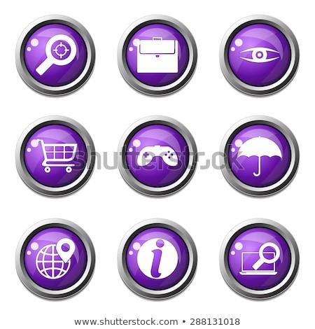 SEO Internet Sign Violet Vector Button Icon Design Set 10 Stock photo © rizwanali3d