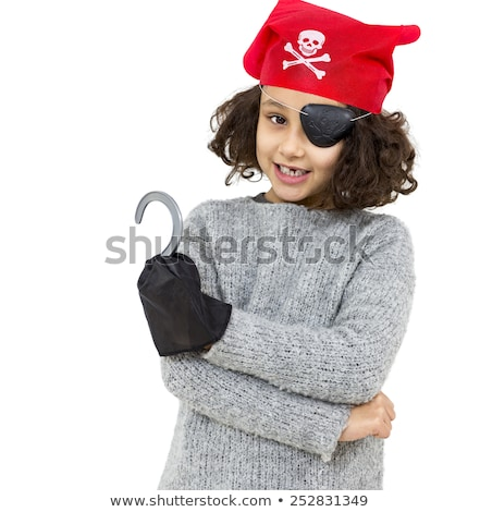 Pretty pirate girl isolated on white Stock photo © Elnur
