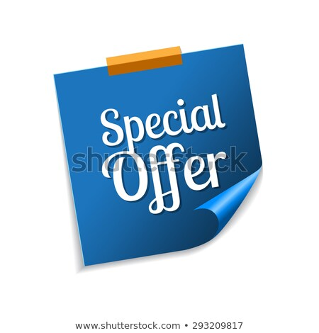 Special Offer Blue Sticky Notes Vector Icon Design Stock photo © rizwanali3d