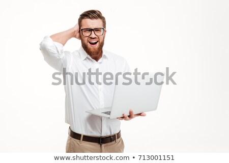 Infeliz empresario ordenador portátil blanco tecnología Foto stock © wavebreak_media