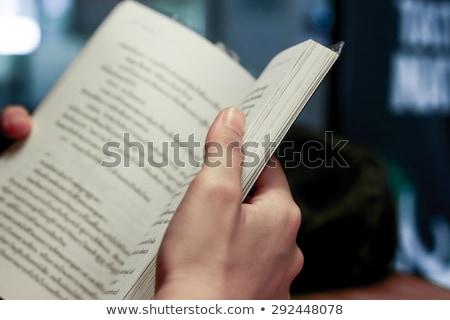 student reading book closeup stock photo © fuzzbones0