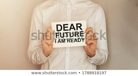 Prêt réunion femme d'affaires boutons up Photo stock © stockyimages
