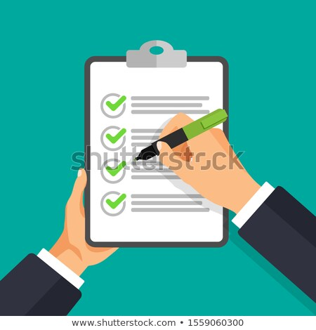 3d man with pen and check list concept Stock photo © nithin_abraham