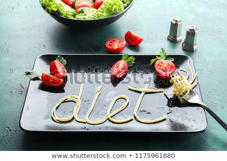 Calorías palabra hortalizas diferente tipo cuerpo Foto stock © fuzzbones0
