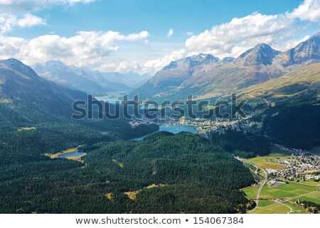 パノラマ · 谷 · アルプス山脈 · スイス · 自然 · 風景 - ストックフォト © capturelight