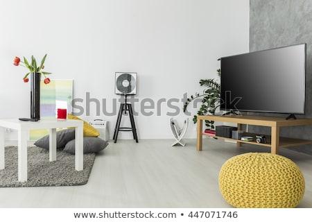 romantikus · szerelmespár · átkarol · ágy · otthon · szeretet - stock fotó © bezikus