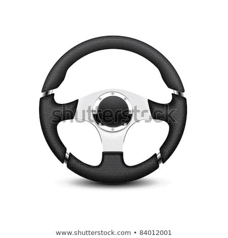 isolado · volante · carro · acelerar · engrenagem - foto stock © shutswis