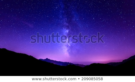 mountains with colorful sky stock photo © vapi