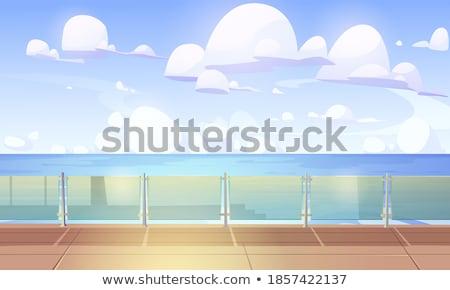 Vazio cais mar céu paisagem metal Foto stock © Paha_L