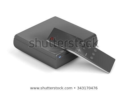 De streaming mídia jogador controle remoto branco televisão Foto stock © magraphics