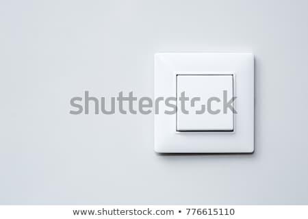 Bianco interruttore della luce texture muro rock pietra Foto d'archivio © shutswis