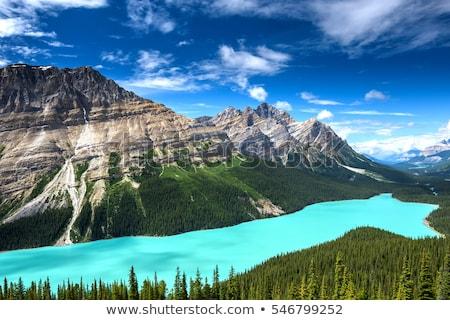 Göl dağ mavi Kanada kimse Stok fotoğraf © ndjohnston