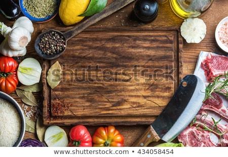 taze · biberiye · ahşap · aromatik - stok fotoğraf © ozgur