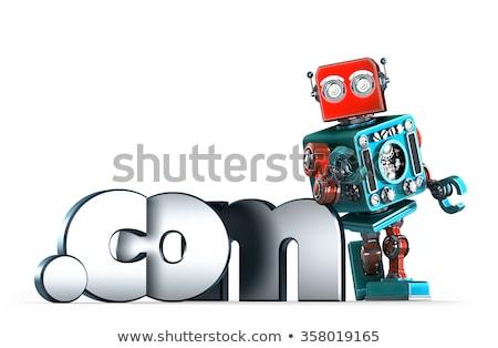 Retro robot kropka domena podpisania odizolowany Zdjęcia stock © Kirill_M