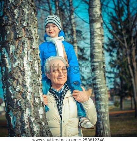 abuelos · nieto · familia · bebé · fondo · madre - foto stock © lubavnel