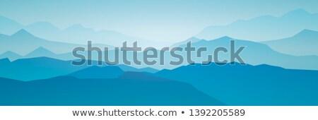 abstract · zonsopgang · bergen · maan · water · natuur - stockfoto © fosin