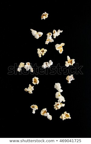 Popcorn isolated on black background Stock photo © mady70