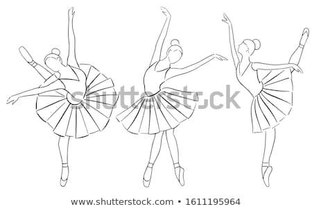 Group of Ballerina On Pointe - Ballet Dancers background Illustration  Stock photo © gigi_linquiet