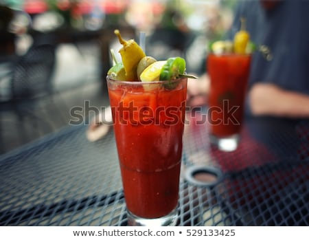 Fresh Caesar or Bloody Mary Cocktail drink Stock photo © ravensfoot