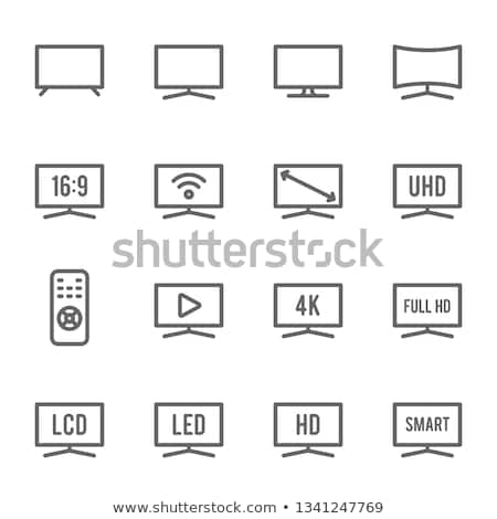 Hd tv ikon terv illusztráció számítógép Stock fotó © kiddaikiddee