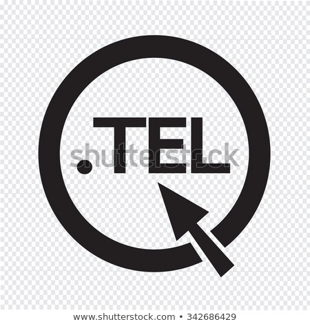 Domain dot tel sign icon Illustration Stock photo © kiddaikiddee