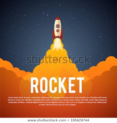 Rakéta hajó indulás eps 10 ceruzák Stock fotó © beholdereye