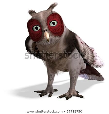 brown owl   3d render stock photo © elenarts