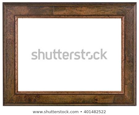 Wooden Patina frame Cutout Stock photo © Suljo