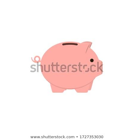 banku · piggy · złoty · monet · wektora · stylu · ilustracja - zdjęcia stock © derocz
