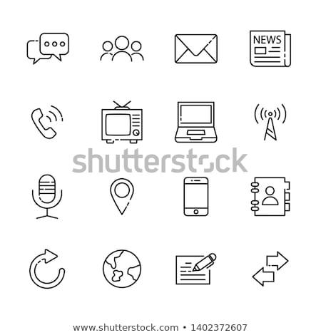 teléfono · móvil · mundo · mundo · tridimensional · aislado · blanco - foto stock © daboost