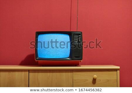 old broken television set on the snow stock photo © olykaynen