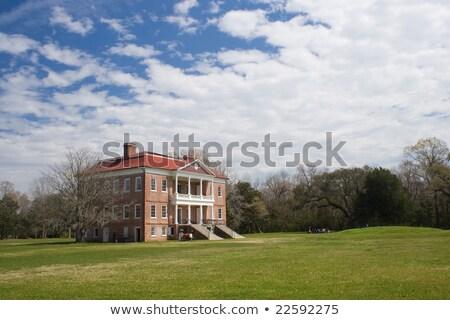 ホール サウスカロライナ州 歴史的 農園 建物 木 ストックフォト © iriana88w