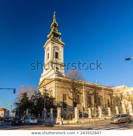 Catedral Belgrado Serbia edificio ciudad cruz Foto stock © Kirill_M