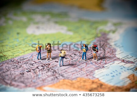 US tourism and travel concept. Macro photo. Color tone tuned Stock photo © Kirill_M