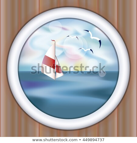 Sualtı gemi arka plan kum tekne kale Stok fotoğraf © carodi