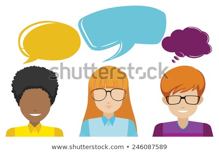 A group of faceless people with empty callouts Stock photo © bluering