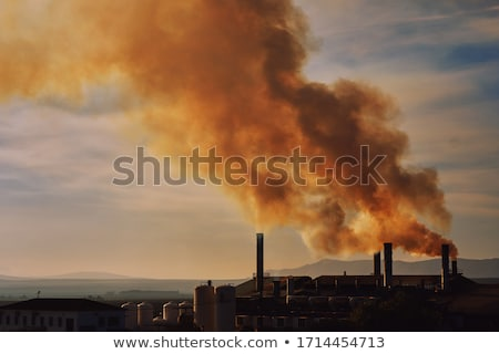 Air pollution from factories on Earth Stock photo © bluering