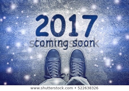 Happy new 2017, sneakers from above Stock photo © stevanovicigor