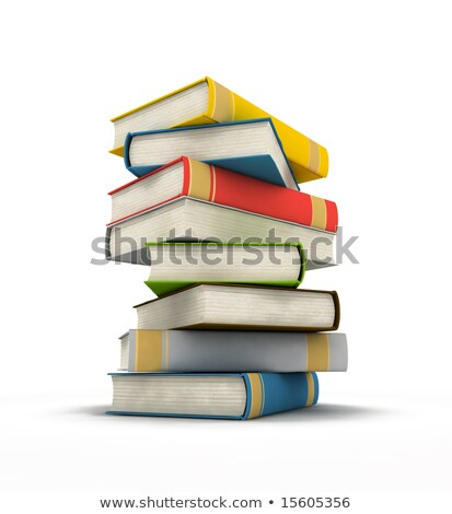 książek · 3D · odizolowany · obraz · książki - zdjęcia stock © iserg