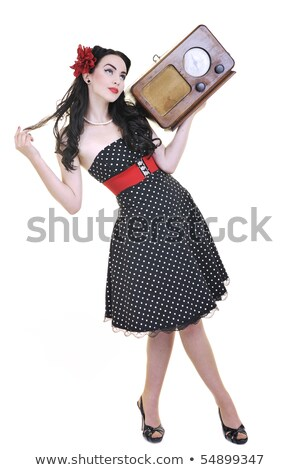 pretty babe dancing in a nightclub stock photo © konradbak