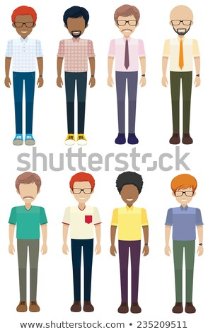 Frontal view of the faceless men Stock photo © bluering