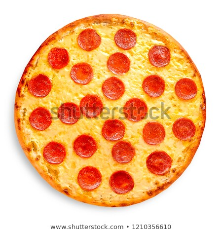 ensemble · pepperoni · pizza · isolé · blanche - photo stock © kayros