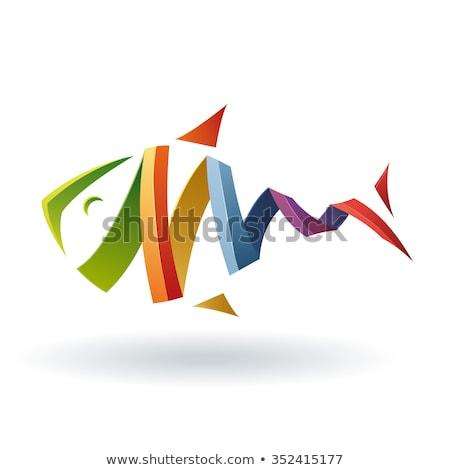 Fisch · logo · Vorlage · Symbol · Wasser · abstrakten - stock foto © krustovin