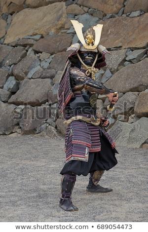 Японский воин меч иллюстрация человека фон Сток-фото © bluering