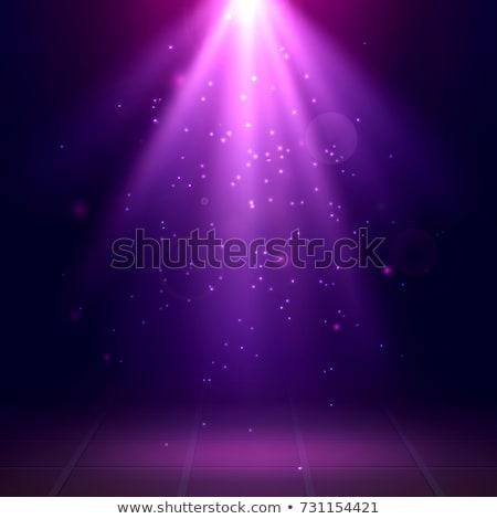 Színpad folt lila fény nyaláb reflektor Stock fotó © mahout